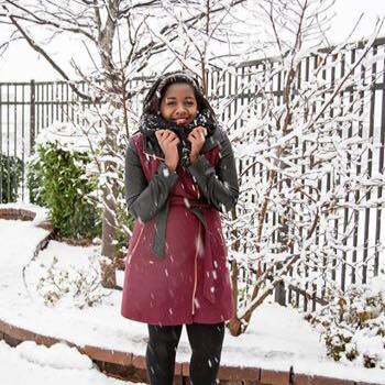 Me in snow Baltimore